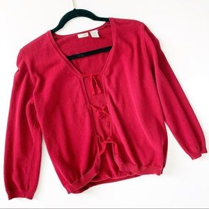 ANTHROPOLOGIE Odille Tie Front Cardigan Sweater